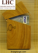 Hộp Name Card Gỗ Trắc Bách Diệp- fragrant cypress business card holder